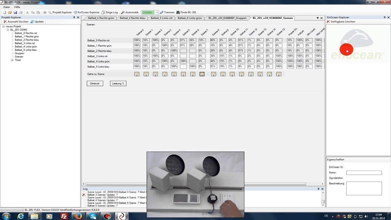 Dali Beleuchtung | Bl 201 Flex Enocean Dali Gateways Mit Steuerungsfunktion Youtube