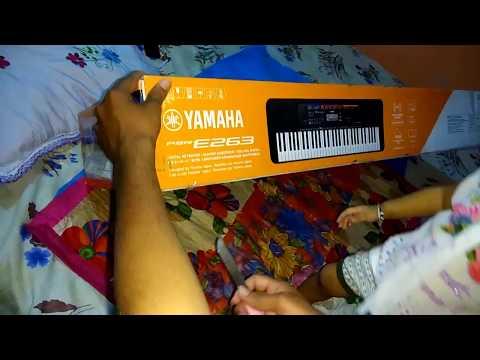 Unboxing Yamaha PSR E263 Keyboard