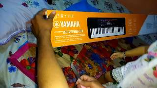 Unboxing Yamaha PSR E263 Keyboard