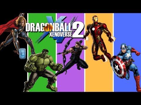 DRAGON BALL XENOVERSE 2 AVENGERS ASSEMBLE |