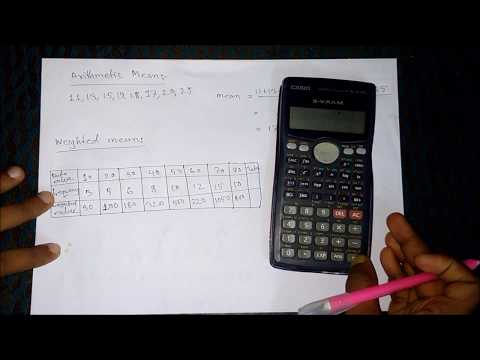 Arithmetic Mean | Weighted Mean |  Trimmed Mean | Mean Median Mode