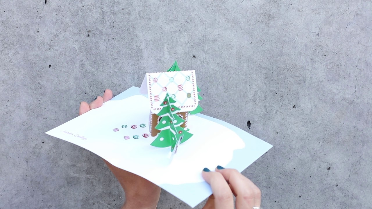 gingerbread cabin holiday cards moma design store - Moma Holiday Cards