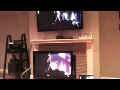 Live HDTV streaming wirelessly inside house.