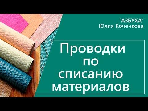 Бухгалтерские проводки по списанию материалов. Методы оценки материалов
