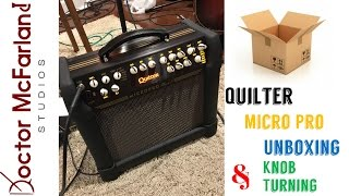 """Quilter Micro Pro Mach II 8"""" Unboxing and Knob Turning"""