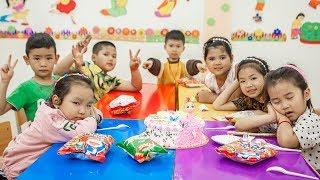 Kids Go To School | Birthday Of Chuns Friends Learn To Make Birthday Cake Beautiful Animals