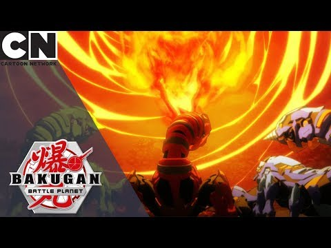 Bakugan: Battle Planet | Dragonoid Vs Three Scorporos | Cartoon Network UK