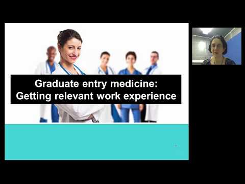 work experience for graduate entry medicine
