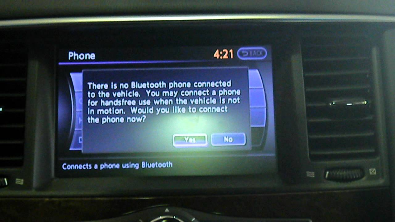 How to setup bluetooth in your infiniti vehicle youtube vanachro Choice Image