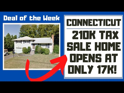 CONNECTICUT TAX SALE REVIEW! $210,000 MERIDEN HOME OPENS AT 17K