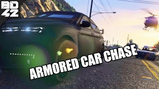 ARMORED CAR CHASE! Grand Theft Auto V MULTIPLAYER POLICE MOD