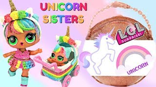 Finding LOL Big Surprise Glitter Custom Unicorn Lil' Sister and Stroller
