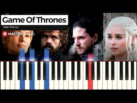 💎 Game of Thrones - Main Theme  Piano Tutorial 💎