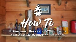 How to prime Berkey PF-2™ Fluoride and Arsenic Reduction Elements