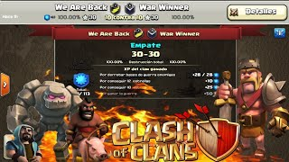 EL PRIMER EMPATE DEL CLAN (WE ARE BACK) | CLASH OF CLANS