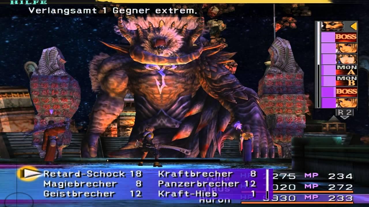 Final Fantasy X - Braska's final aeon (Jecht) Battle (GER ...