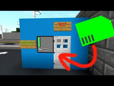 How to Unlock Doors Using Access Cards in Minecraft PE | Command Block Tutorial