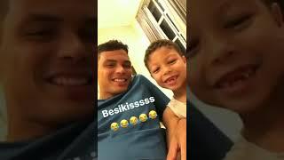 Thiago Silva oğluna Beşiktaş demeyi öğretiyor