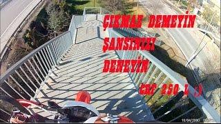Crf 250 L Merdiven çıkmak, inmek  (Bu motorun gitmediği yer yok dostum)