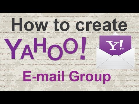 Video tutorial : How to create a Yahoo E mail Group