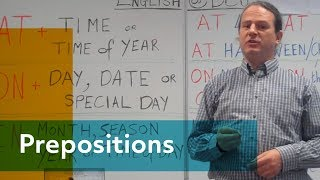 How to use Prepositions of time in the English language - Alan - English at Dublin City University