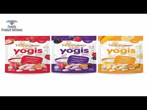 Happy Baby Organic Yogis Freeze-Dried Yogurt & Fruit Snacks 3 Flavor Variety Pack1 Ounce