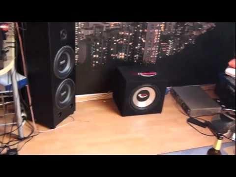 Bass test Lautsprecher knallt Tür