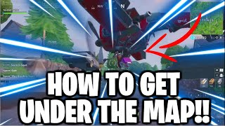 GET UNDER THE MAP ANYWHERE IN PUBLIC GAMES! (Fortnite Glitch Season 7)
