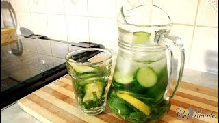 Flat Belly Diet Drink-Flavored Water,Mint ,Cucumber & Lemon [ Summer Drink ] Fat Cutter Water Drink
