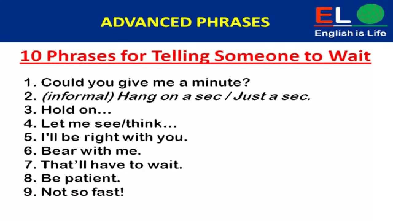 useful phrases report