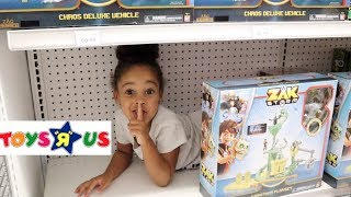 BEST HIDE AND SEEK SPOT In Toys R Us | FamousTubeKIDS