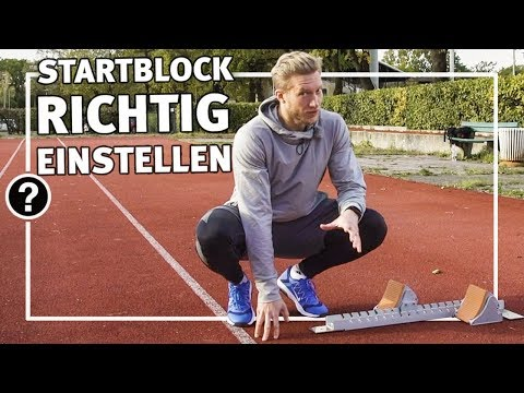 Video: Starting-block de compétition Sport-Thieme® « Super »