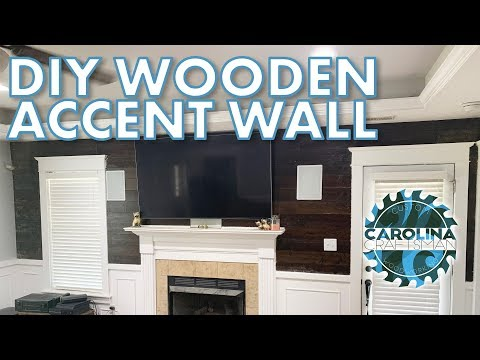 Living Room Reno Part 1: The Wooden Accent Wall | Woodworking/DIY