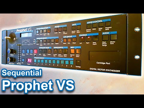 SEQUENTIAL CIRCUITS PROPHET VS - Sounds, Patches & Ambient Soundscapes   Vector Synthesizer Demo