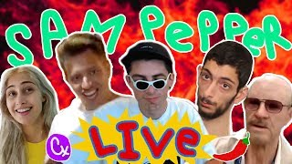Opening Christmas gifts w/Hannah   Sam Pepper Live Stream