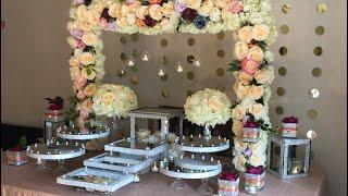 DIY- dessert table decor DIY- bling Decor Diy- Wedding decor