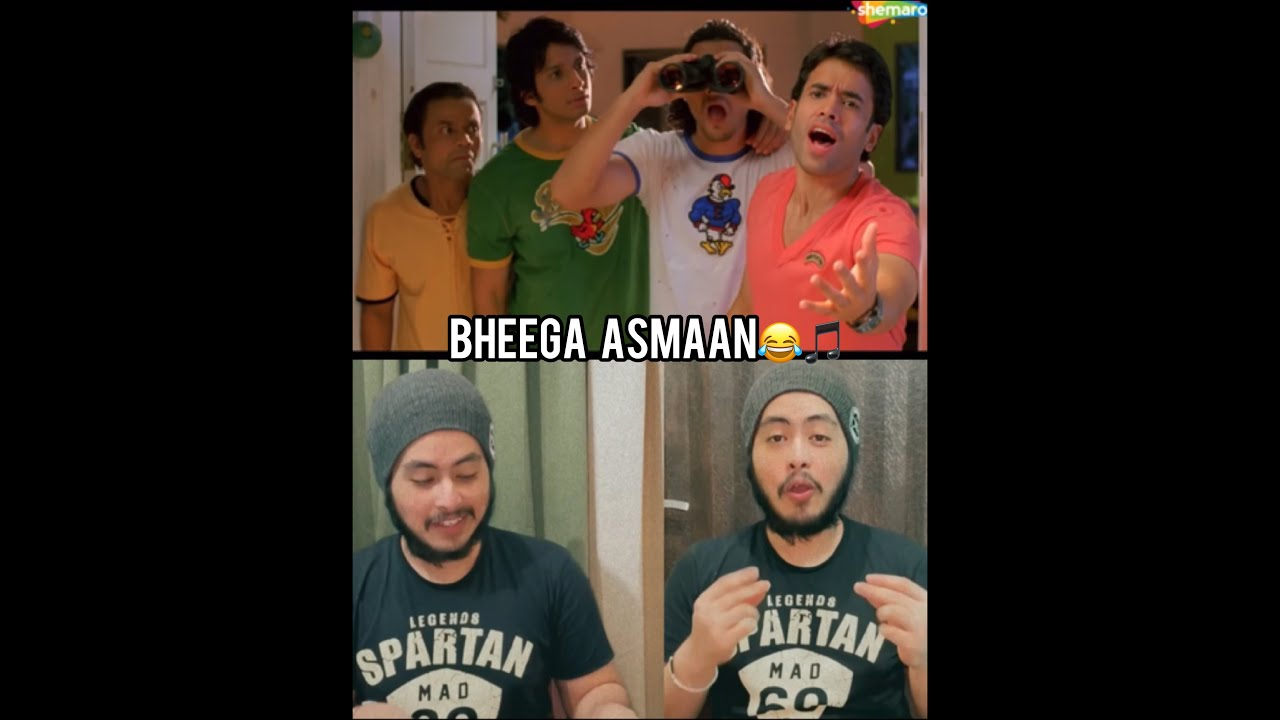 EXPECT THE UNEXPECTED! Dhol movie funny song BHEEGA ASMAAN recreated 😂🕺🏻🎤| Acoustic Singh Shorts
