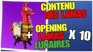 PRESENTACION DE LA CONTENU DE LOS LAMAS LUNAR - APERTURA X10 FORTNITE Salvando el Mundo