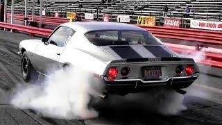 1965 Corvette (L79) vs 1970 Camaro Z28 (LT1) 1/4 Mile Drag Race - Road Test TV ®