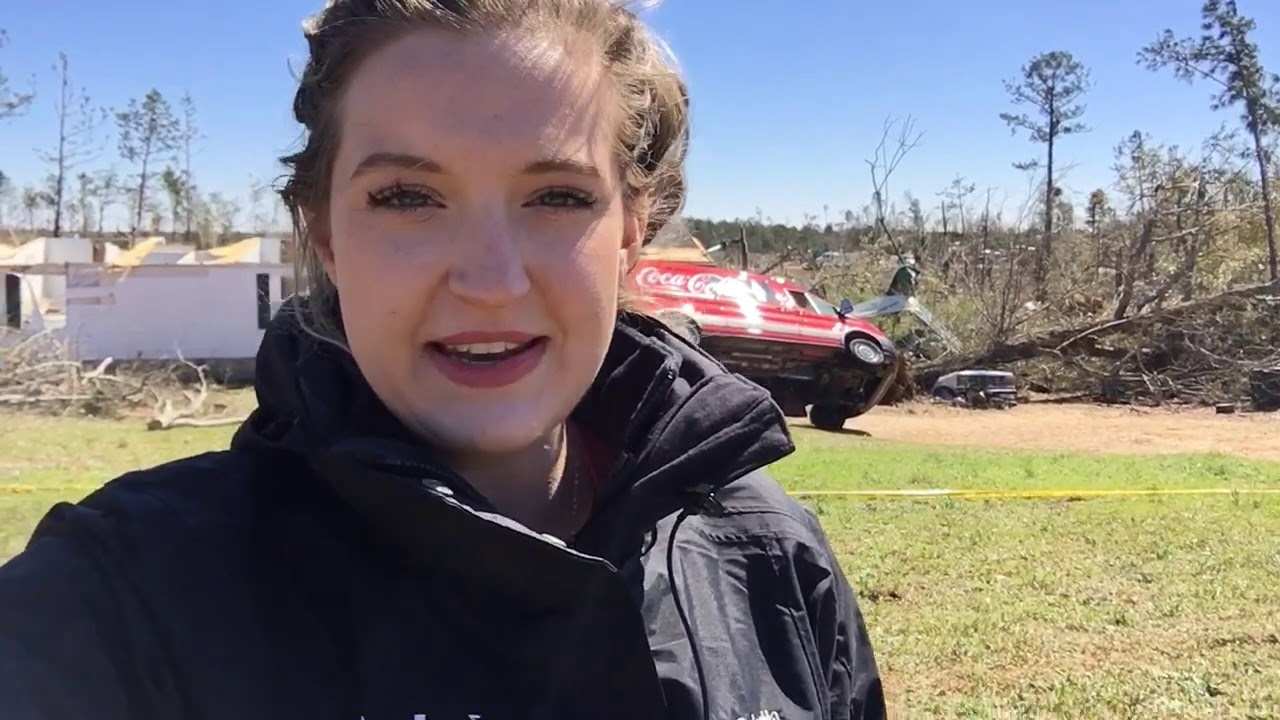 Tornado damage in Lee County