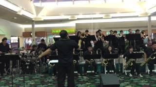"""CHS Jazz Band """"Runaway Baby"""" live at Kahala Mall"""