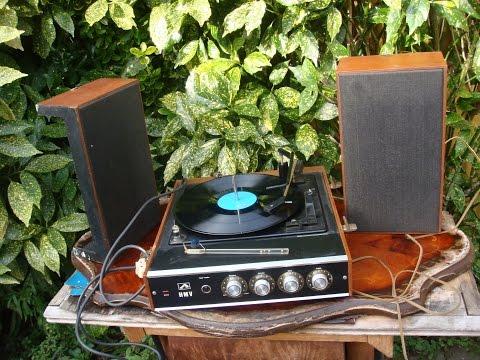 Vintage HMV Turntable Record Player Speaker 1960