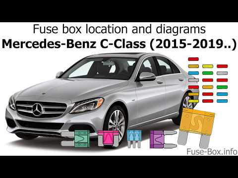 Fuse box location and diagrams: Mercedes-Benz C-Class (2015