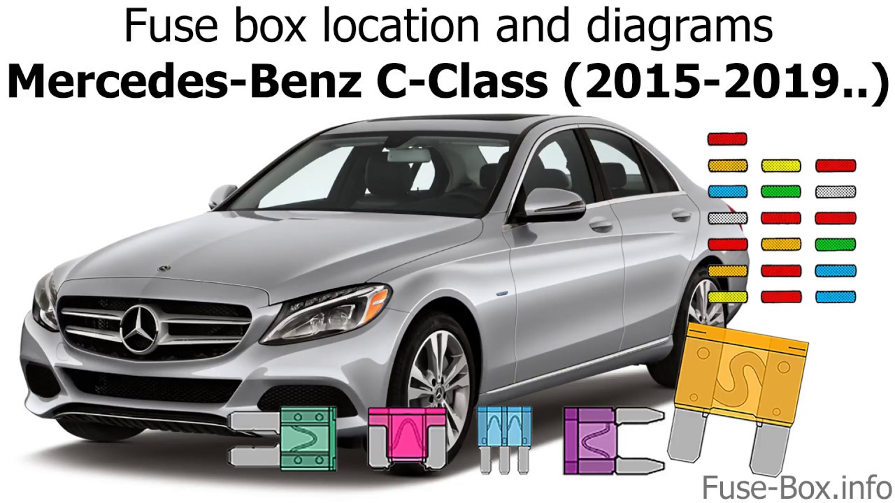 fuse box location and diagrams mercedes benz c class 2015 2019  [ 1280 x 720 Pixel ]