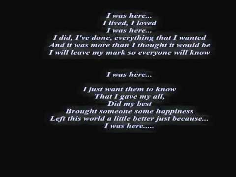 Beyonce Knowles - I Was Here Lyrics | MetroLyrics