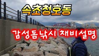 속초청호동 감성돔낚시 초보자채비설명 출발~~~
