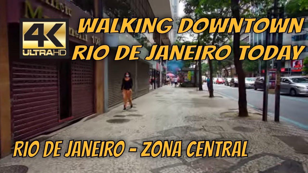 【4K】🚶 [ DOWNTOWN RIO DE JANEIRO TODAY ] Walking tour during the Pandemic   Rio de Janeiro by Car