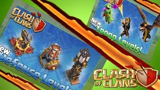Clash of Clans NEW Update TROOPS & DEFENSES |Wizard level 7| Tesla 9 |Mortar 10 |Dragon 6|X-Bow 5