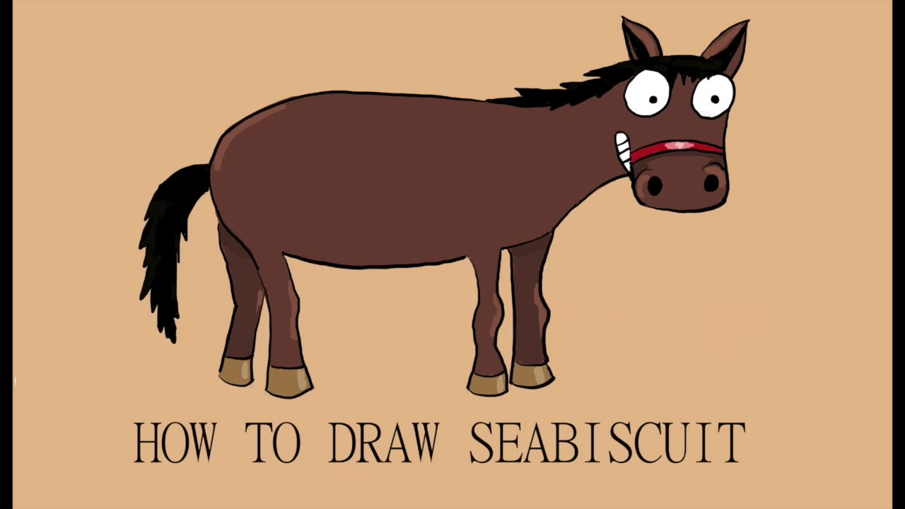 how to draw a horse cartoon style youtube