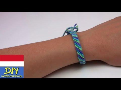 membuat Gelang/ Tali Persahabatan dari Benang Wol - friendship bracelet tutorial diy indonesian